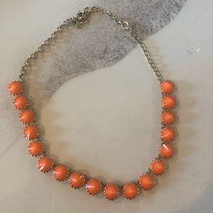 NWOT Orange and Gold J. Crew Necklace